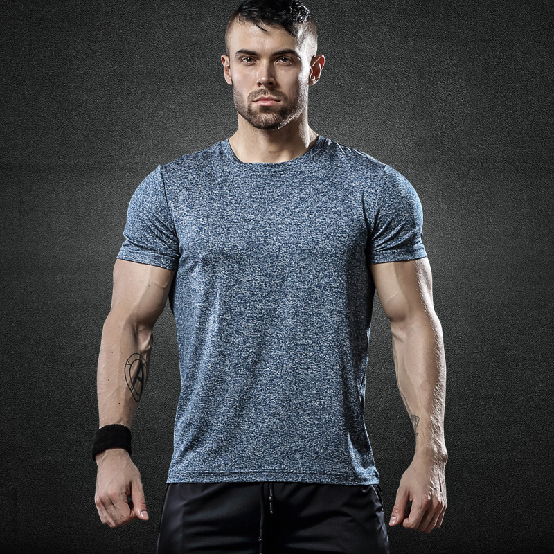 运动短袖t恤男透气型格健身衣宽松弹力速干衣跑步训练圆领篮球T恤