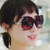 2019新款太阳镜韩版防紫外线墨镜复古女士长脸圆脸司机开车眼镜潮