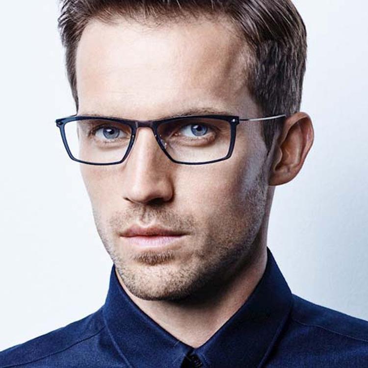 Transparent eyeglass frame mens ultra light full frame plate personality Linde Denmark