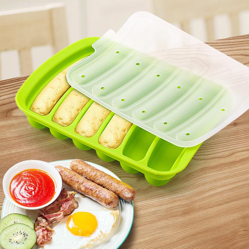 宝宝香肠模具 硅胶热狗火腿肠辅食磨具可蒸家用自制儿童肉肠模具
