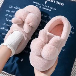 棉拖鞋女秋冬外穿包跟棉鞋家居网红孕妇保暖家用可爱毛毛拖鞋加绒