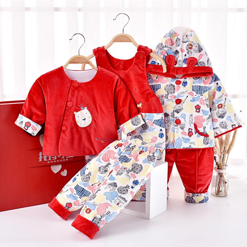 新生儿棉衣礼盒婴儿衣服秋冬薄棉套装0-1岁初生男女宝宝用品礼物