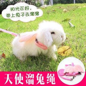 兔子牵引绳用品衣服链子小兔兔绳子