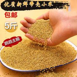 威毕新黄谷子带壳小米虎皮玄凤牡丹鹦鹉鸟食饲料鸟粮食物粮食5斤