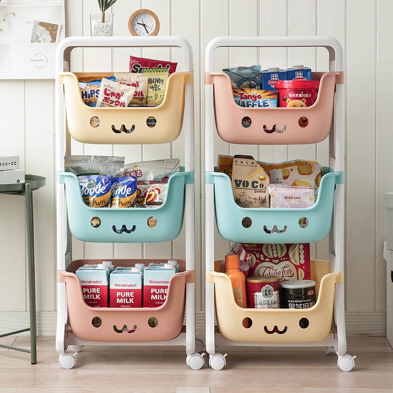 零食收納神器置物架客廳兒童玩具收納箱筐儲物箱子收納盒家用盒子