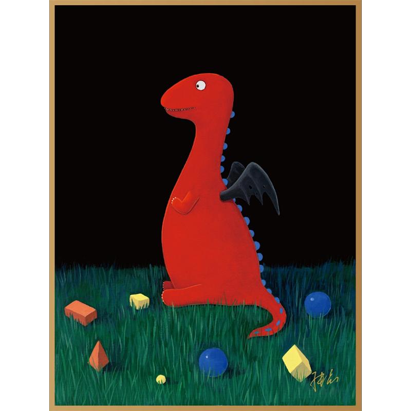 可米生活艺术家张占占作品《积木》现代简约装饰背景玻璃版画