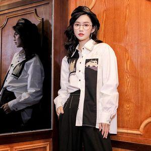2019秋季白襯衫長袖法式小眾上衣顯瘦寬松襯衫女設計感小眾新款