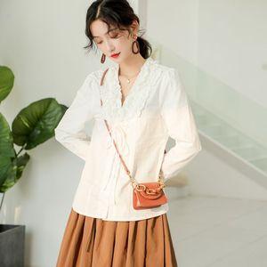 早秋新款女裝2019設計感小眾上衣女 白色襯衫女時尚洋氣