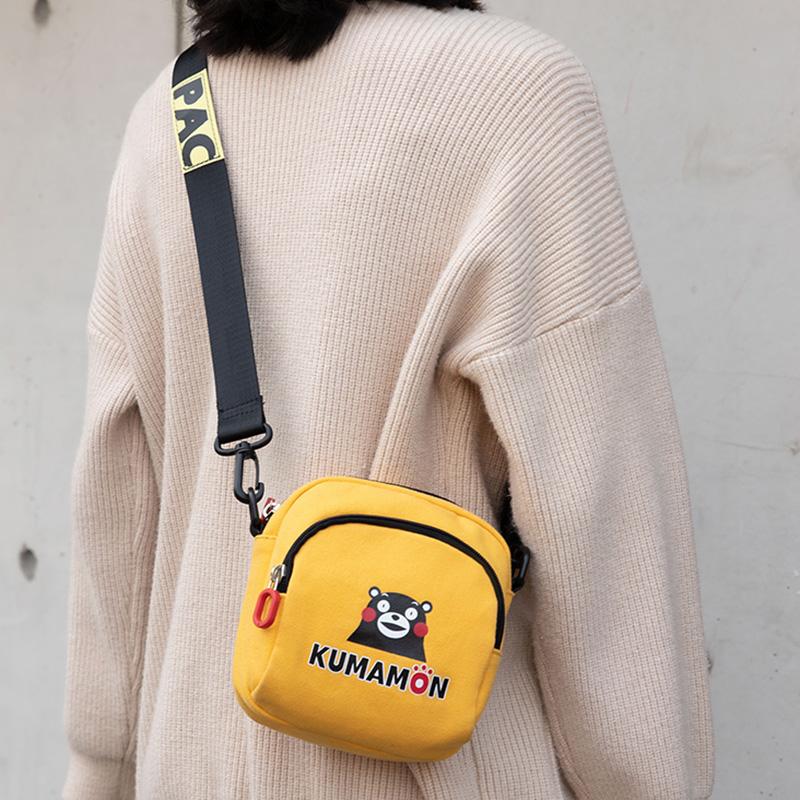 新款手机包女斜挎时尚简约百搭帆布钥匙零钱包宽带便携迷你小包包