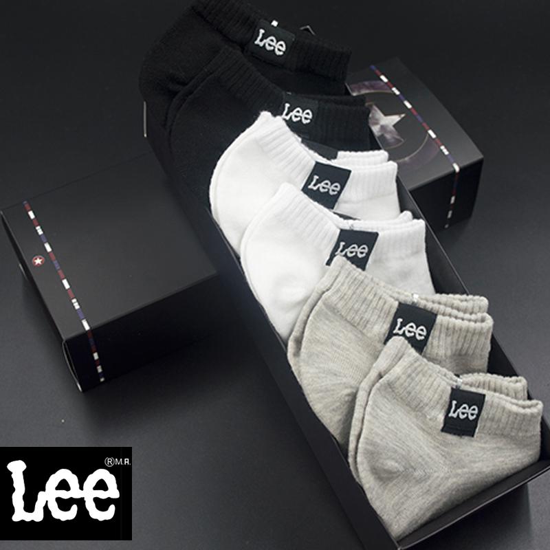 Ли спорт дезодорант чистого хлопка носки лодке носки фитиль короткие низкой вырезать мужской сплошной цвет хлопка черно-белые летние носки