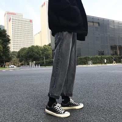 2018冬季新款长裤男士韩版直筒牛仔裤ins超火A149-K74-P68 控85