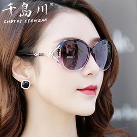 2020新款珍珠墨镜女太阳镜驾驶开车眼镜偏光防晒优雅舒适气质款黑图片