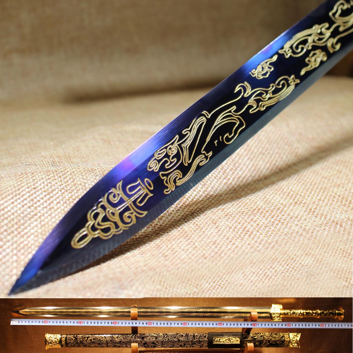 Подлинный обоюдоострый меч ручной работы меч китайский меч долго меч жесткий меч династия цинь меч городской дом нож меч холодный солдаты устройство специальное предложение закрыты край
