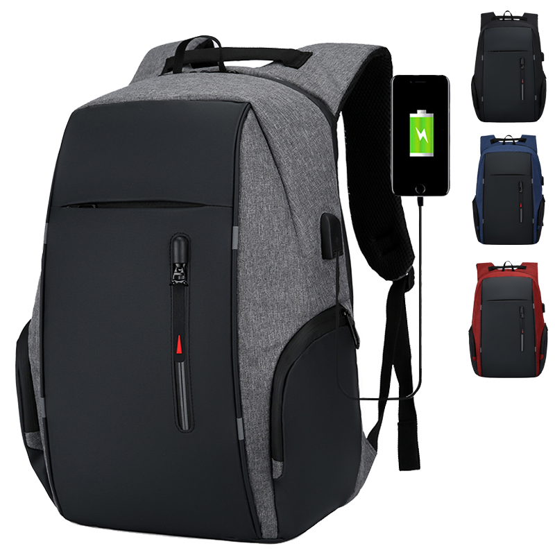 Outdoor Jianfeng large capacity backpack mens business multifunctional computer backpack USB charging business bag anti theft bag