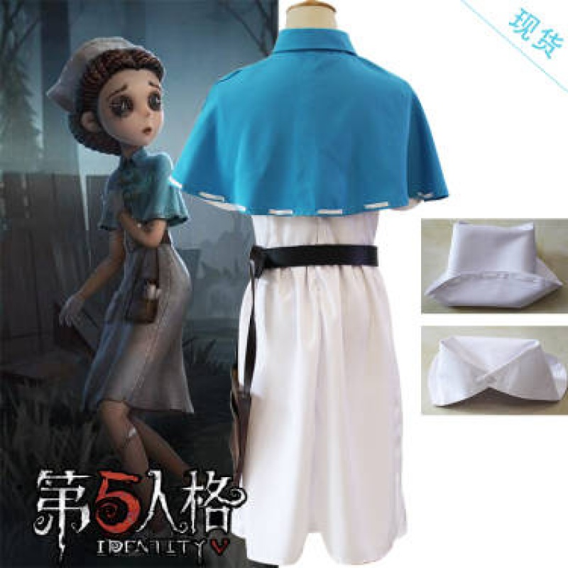 New fifth personality cos dress childrens doctor wig dish hair Emily Dale Angel Dress female role play