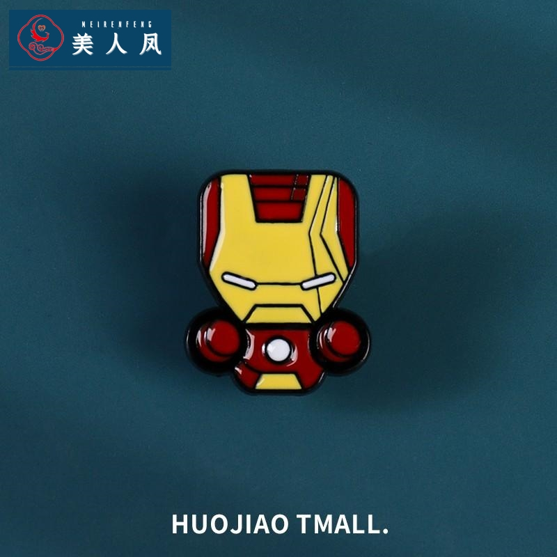 Marvel Avengers US captain Superman alloy Brooch men and women fashion iron man badge bag accessories