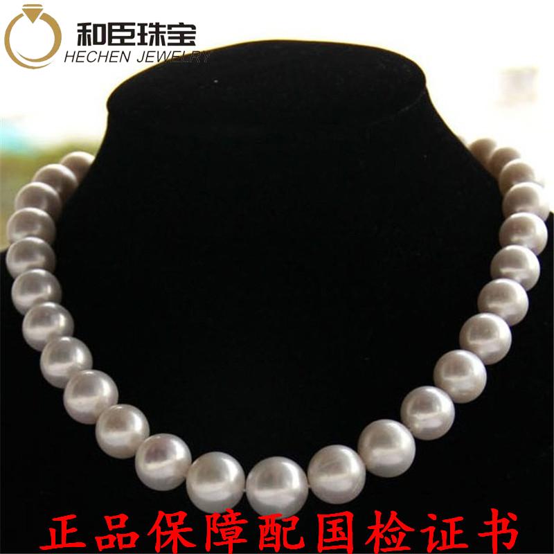 正品假一赔十天然淡水珍珠项链10-11mm强光送妈妈婆婆母亲节礼物