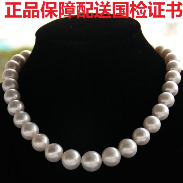 正品假一賠十天然淡水珍珠項鏈10-11mm強光送媽媽婆婆母親節禮物