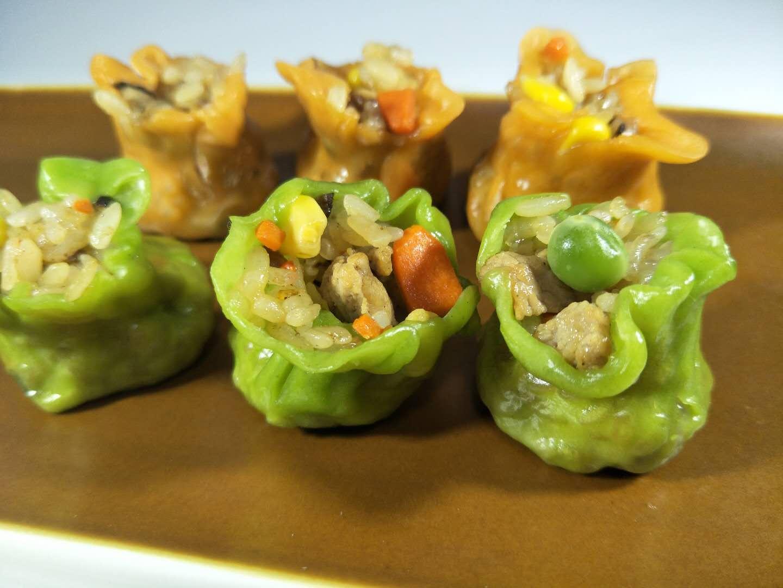 果蔬菜汁糯米猪肉烧麦儿童早餐辅食夜宵点心15个真空装