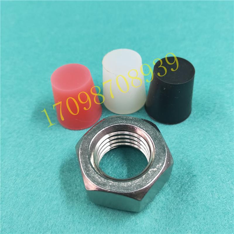 厂家供应硅橡胶堵头 防尘防水硅胶密封塞 M21-24螺纹孔盲孔锥形塞