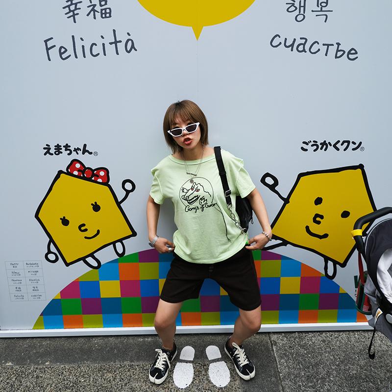 【6.16 现货】MissSha margiel@2019新款鳄鱼绣花薄荷绿短款T恤