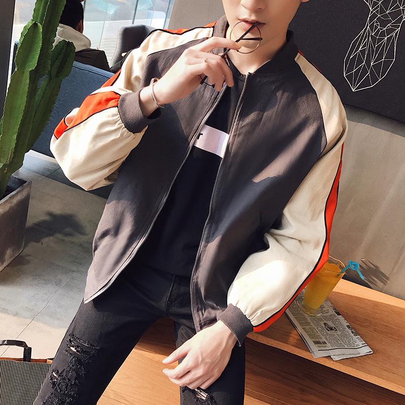 男士春秋学生新款韩版夹克秋季2017帅气修身棒球衣服潮流男装外套