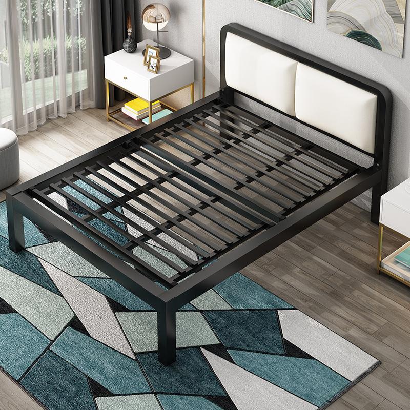 现代简约1.8米北欧架铁艺床