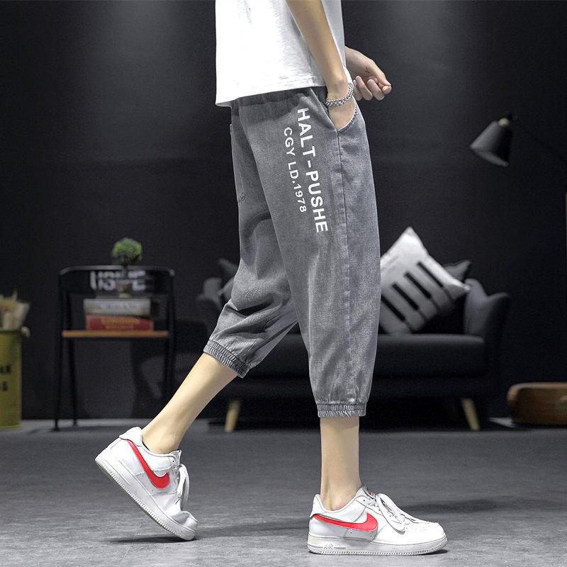 M到5XL夏季新款潮流7分牛仔裤男大码QT5032-KK45-P48