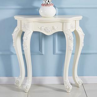 欧式玄关桌子靠墙长条窄边台北欧轻奢风简欧柜半圆现代简约置物架
