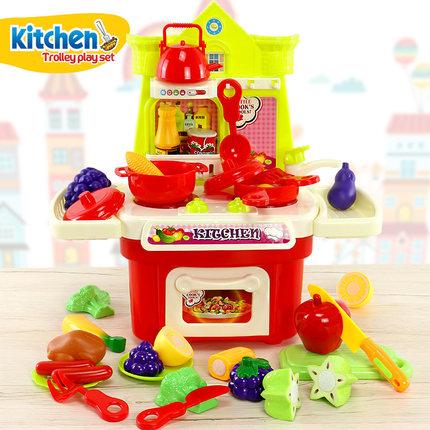 切水果蔬菜过家家套装组合厨房玩具