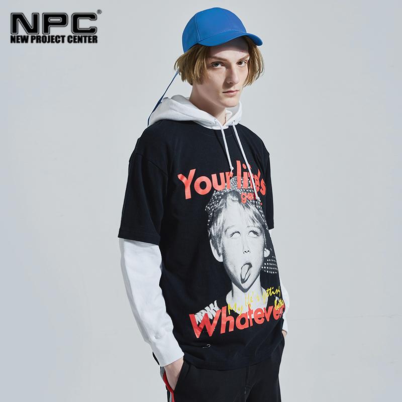 NPC潮牌 MLGB Whatever胸前吐舌Boy印花短袖T恤 男女同款潮