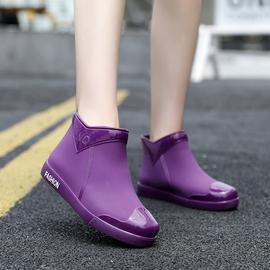 时尚雨鞋女潮流短筒水鞋四季外穿工作鞋韩版中筒防水防滑耐磨雨靴图片