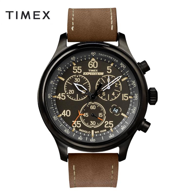 美国TIMEX/天美时手表石英男表T49905户外运动大表盘三眼腕表