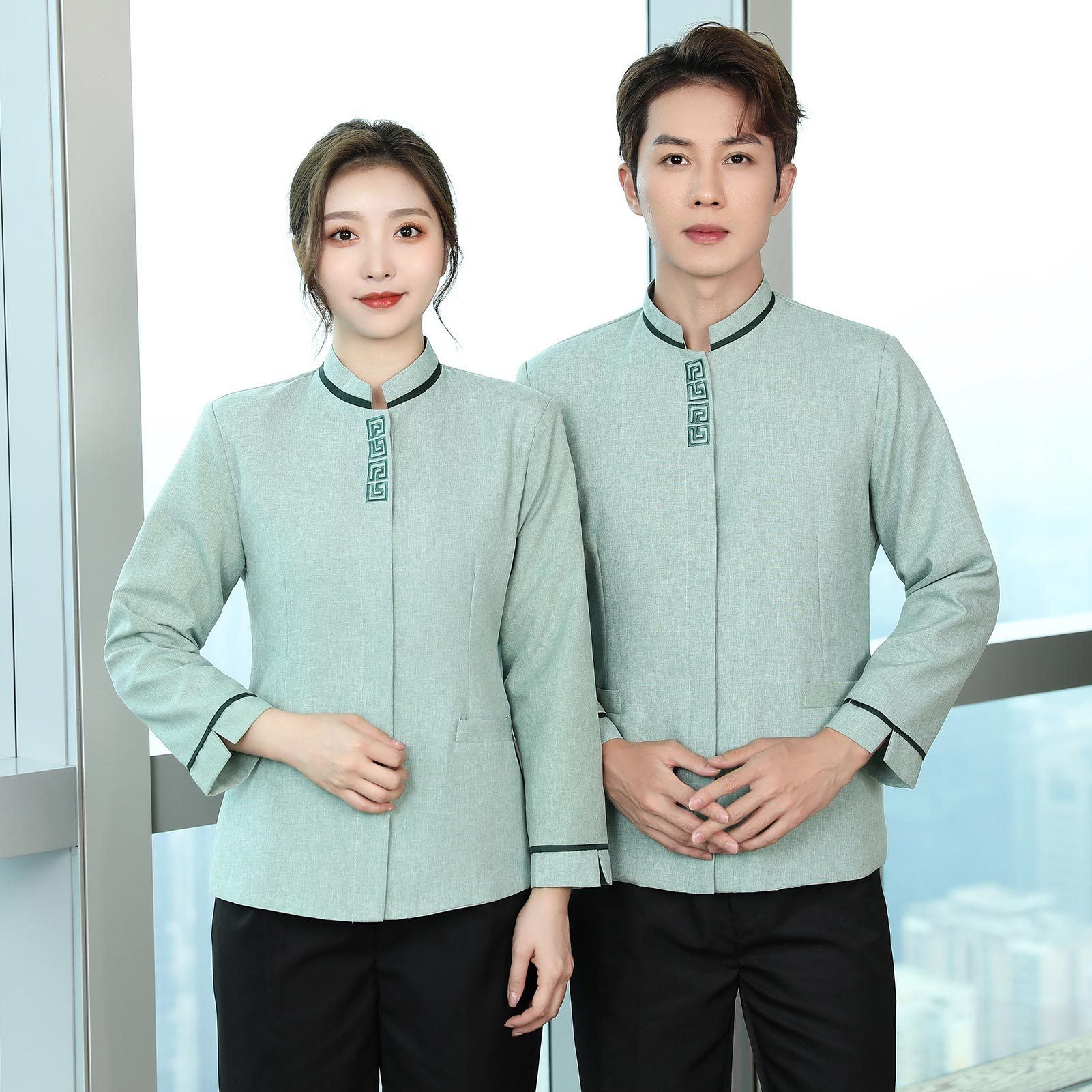 Cleaners autumn and winter long sleeved sanitary work clothes uniforms shopping malls restaurants cleaning aunts clothing health care hospital protective clothes