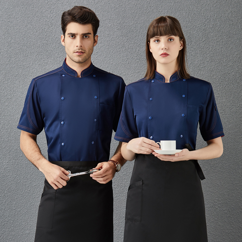 Korean barbecue shop bakery bakery cake clothes chef work clothes summer short sleeve bakery clothes