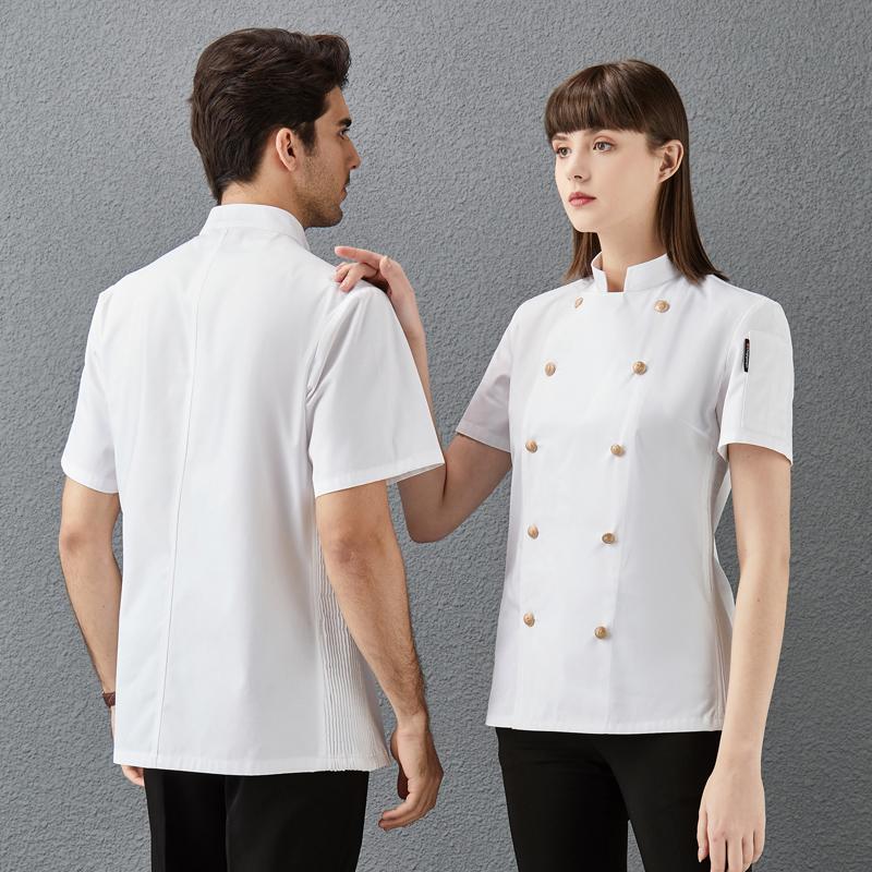 Hotel Chef Uniform summer short sleeve tooling cake shop Master Hotel nutritionist uniform