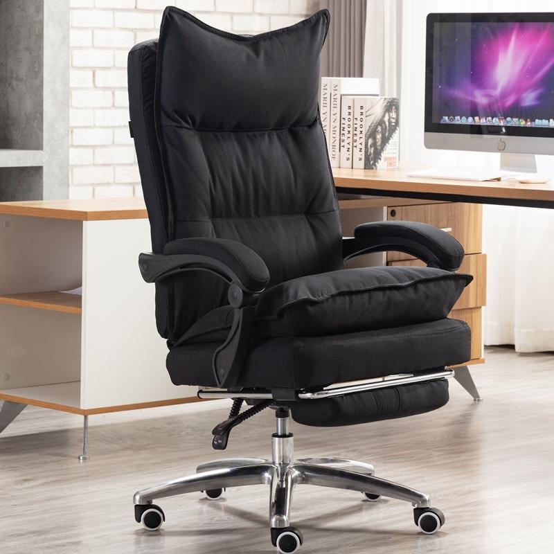电脑椅布艺老板椅可躺办公椅子转椅舒适家用电竞午休座椅
