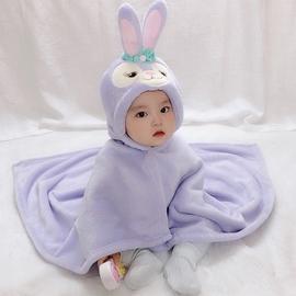 婴儿披风造型斗篷春秋男女宝宝披肩抱毯0-1-2岁婴儿外出挡风包被图片