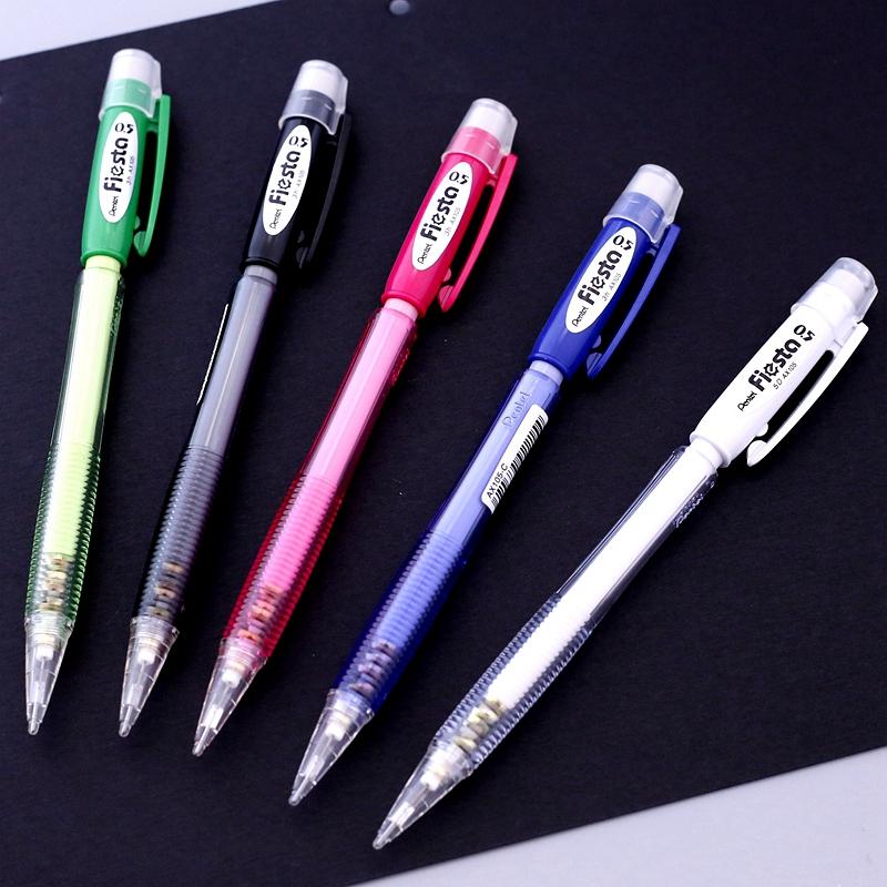 正品日本派通AX105活动铅笔 派通自动铅笔0.5mm 5色 新色到货