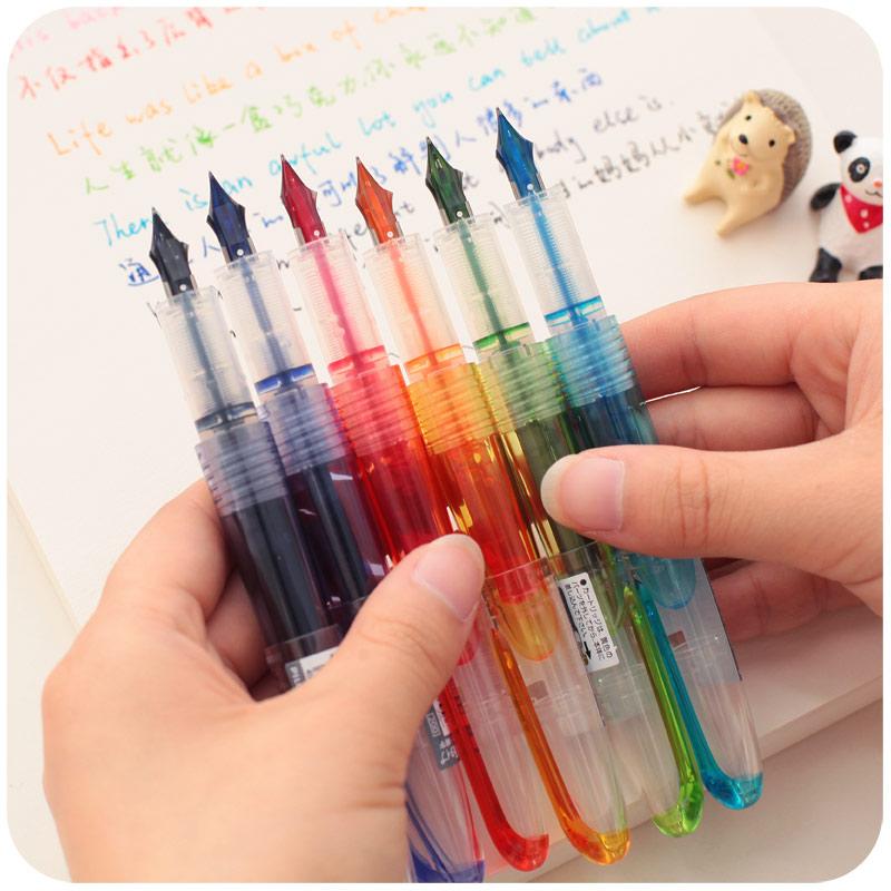 日本百乐?#38405;?#20803;气小钢笔SPN20F学生用女生钢笔透明好用可换墨囊