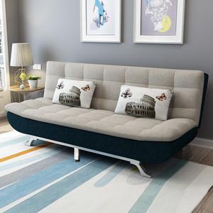 小户型科技布可折叠两用卧室沙发床