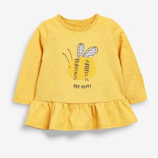 新款女童純棉長袖T恤裙衫衞衣春秋裝童圓領套頭休閒打底衫清倉