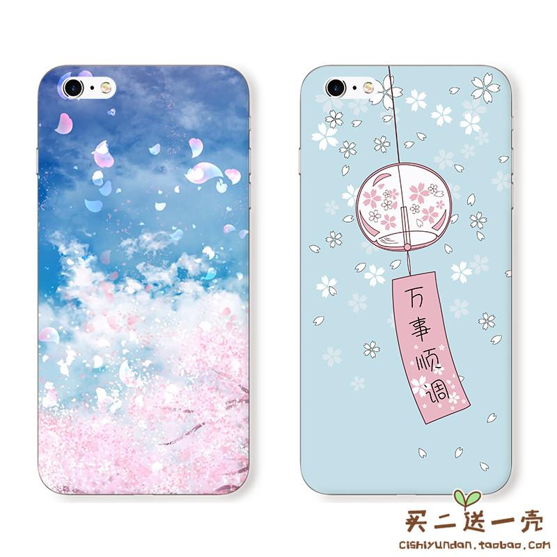 万事顺调 苹果5S/6Plus/7/8/7plus/X手机壳iPhone6s 彩绘软保护套