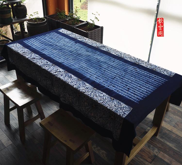 Юньнань дали белый обычный синий краситель ручной работы краситель скатерть настенный отвезти старый иностранных китай ветер подарок фон декоративный