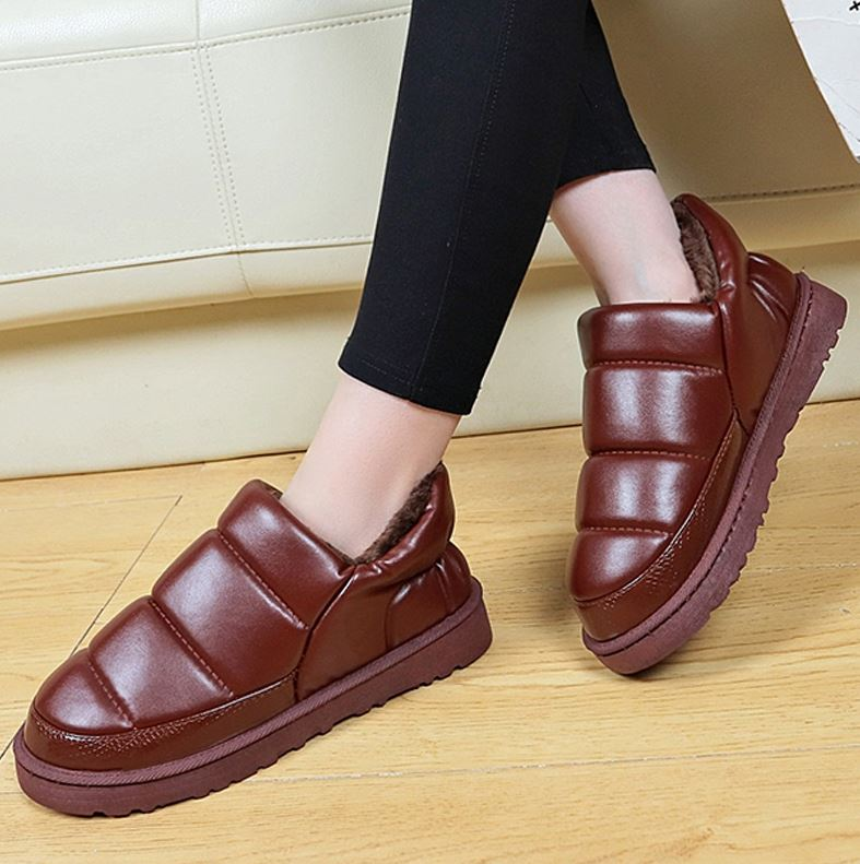 All inclusive cotton slippers, cold proof cotton shoes, indoor and outdoor elderly wear warm winter outdoor wool cutting shoes and cotton boots