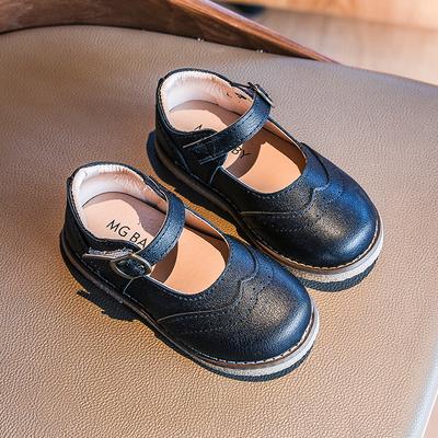 女童皮鞋2020新款单鞋英伦风时尚洋气公主鞋春款宝宝休闲豆豆鞋