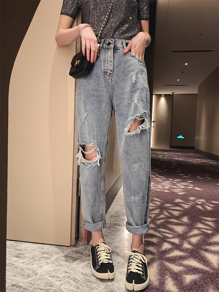 新款大码女装2021年春装气质减龄洋气胖妹妹mm炸街显瘦牛仔裤夏装