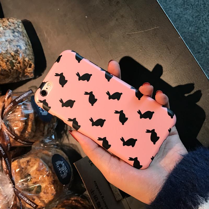 6s 6splus粉色可愛兔子 iPhone7 7 plus 7代 tpu軟殼手機殼