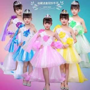 六一儿童环保服装幼儿园手工创意diy亲子演出女童时装走秀塑料袋