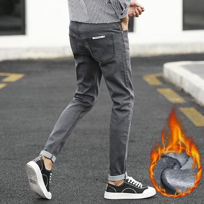 秋冬男士牛仔裤修身青少年裤子男韩版潮加绒裤长裤可选JR1830-P55
